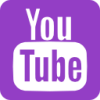 YouTube Logo Icon Purple